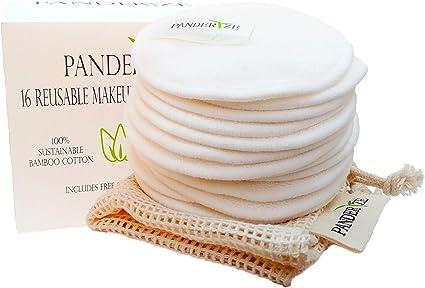 Almohadillas de algodón reutilizables. Paquete de 16 almohadillas ...