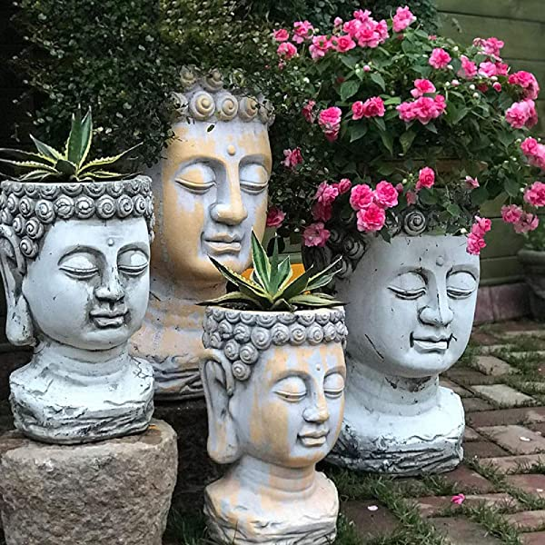 large-buddha-head-flower-pot