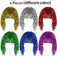 Pelucas Metal Brillante para Mujer Set de Pelucas Brillante Brillante Pelucas Multicolor para Mujeres Adecuado para…