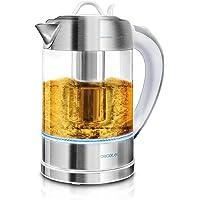 Cecotec Hervidores de Agua Eléctricos ThermoSense - 1,7 L, Vidrio Borosilicato, Libre de BPA, Base 360 ª, Filtro antical, Doble Sistema de Seguridad,2200 W