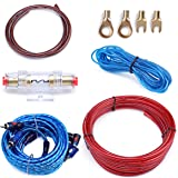 Muzata 10 Gauge Amplifier Installation Kit with RCA Interconnect and Speaker Wire, Car Audio Subwoofer Wire, AMP Wiring…