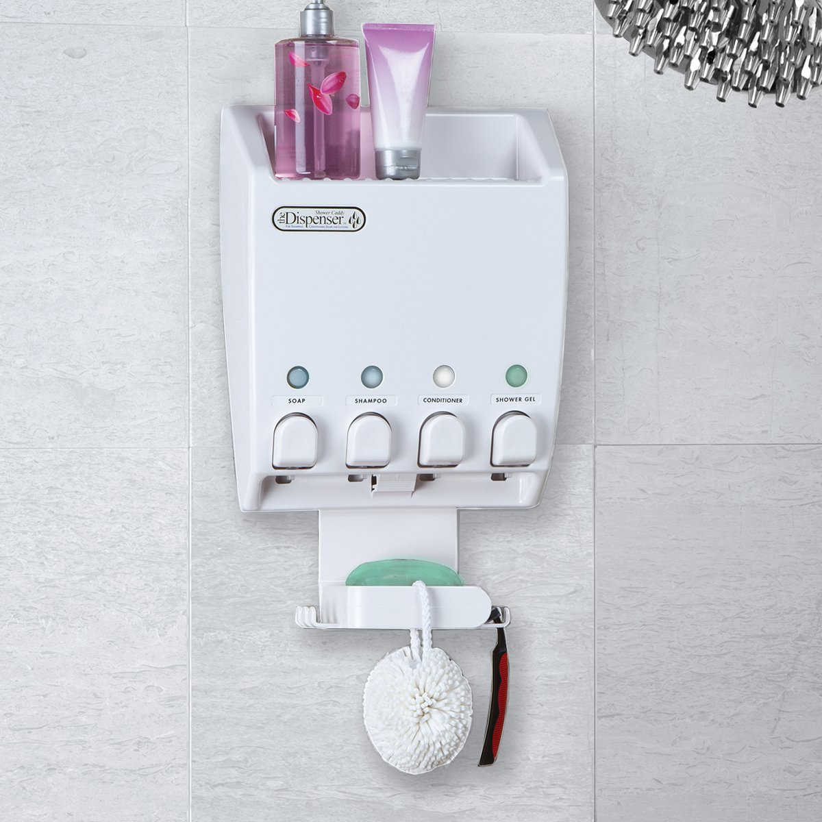 Amazon.com: Better Living Products Dispenser Shower Caddy, Four ...