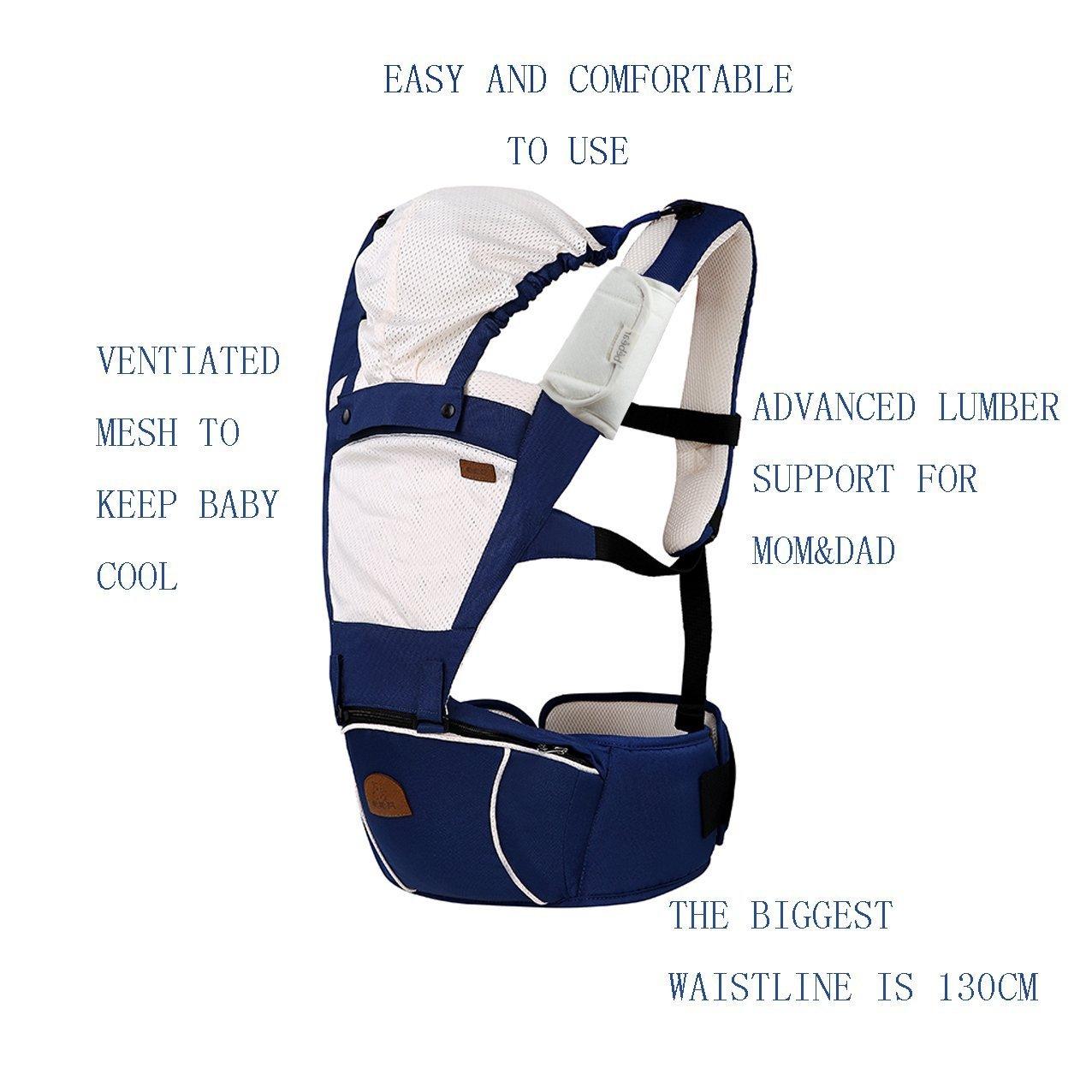 dark grey Bebamour Extension Belt Waistband Extender Adjustable for Baby Carrier