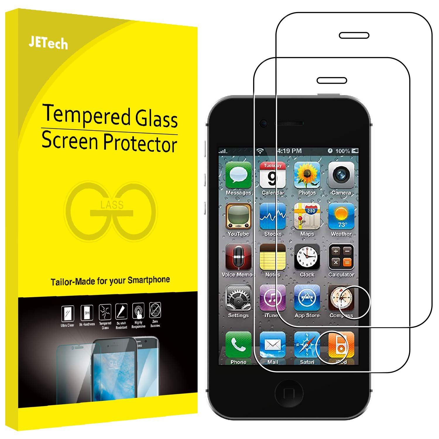 Amazon.com  JETech 2-Pack Screen Protector for Apple iPhone 4 and iPhone 4s 60f69b93e3