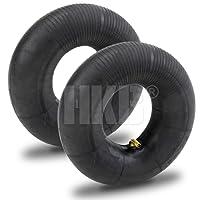 HKB ® Schlauch für Luftrad, ideal auch als Ersatzschlauch, mit TR 13 Winkelventil aus Metall, 3,00-4 TR87C, geeignet für Sackkarren, Bollerwagen, Transportwagen und Handkarren (2)