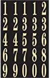 "Self-Stick Numbers, 2"" Black & Gold"