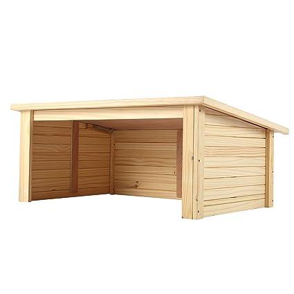 grand choix de c04a4 72185 Zelsius Abri de jardin en bois pour tondeuse à gazon, robot-tondeuse, marron