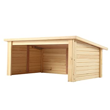 Garaje de madera Zelsius para robot cortacésped, cubierta ...