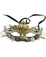 Elegant Black/gold Venetian Laser Cut Masquerade Ball Party Mask