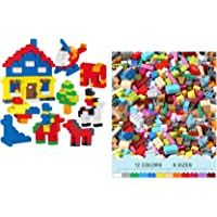 TEMSON 450 Pieces Classic Colorful DIY Mini Building Blocks Educational Kids Puzzle Construction Toy for Kids