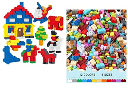7211bc7546d Buy TEMSON Classic Colourful DIY Mini Building Blocks Educational ...
