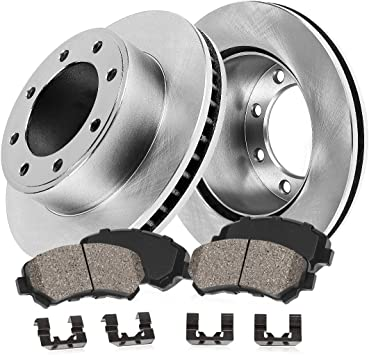 2013 Chevy Silverado 1500 2WD//4WD OE Replacement Rotors w//Metallic Pads F+R