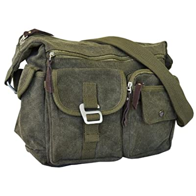 Vintage Classic Army Messenger Heavy Weight Over the Shoulder Bookbag Bag 85%OFF