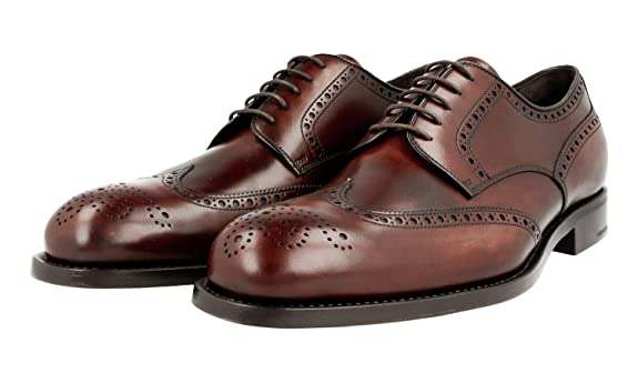 Men's 2EB122 Full Brogue Leather Business Shoes