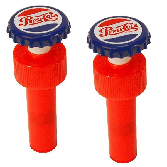 Amazon.com: Jokari Pepsi Heritage Logo Fizz Keeper Pump Cap Soda Bottle: Kitchen & Dining