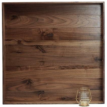 Fantastic Magigo 24 X 24 Inches Extra Large Square Black Walnut Wood Ottoman Tray With Handles Serve Tea Coffee Or Breakfast In Bed Classic Wooden Decorative Creativecarmelina Interior Chair Design Creativecarmelinacom