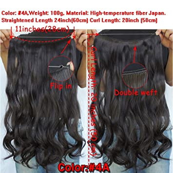 Amazon Com Secret Halo Hair Extensions Flip In Curly Wavy Hair