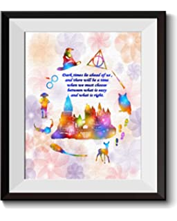 Uhomate Little Miss Muffet Harry Potter Quote Home Canvas Prints Wall Art  Anniversary Gifts Baby Gift