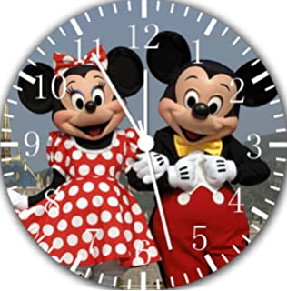 Disney Mickey Minnie Frameless Borderless Wall Clock E116 Nice for Gift or Room Wall Decor
