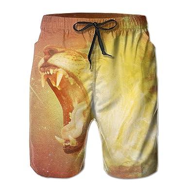 89efee400e Cool Roar Lion Men Summer Quick Drying Beach Shorts Sports Board Shorts  Surfing Shorts Swimming Pants | Amazon.com
