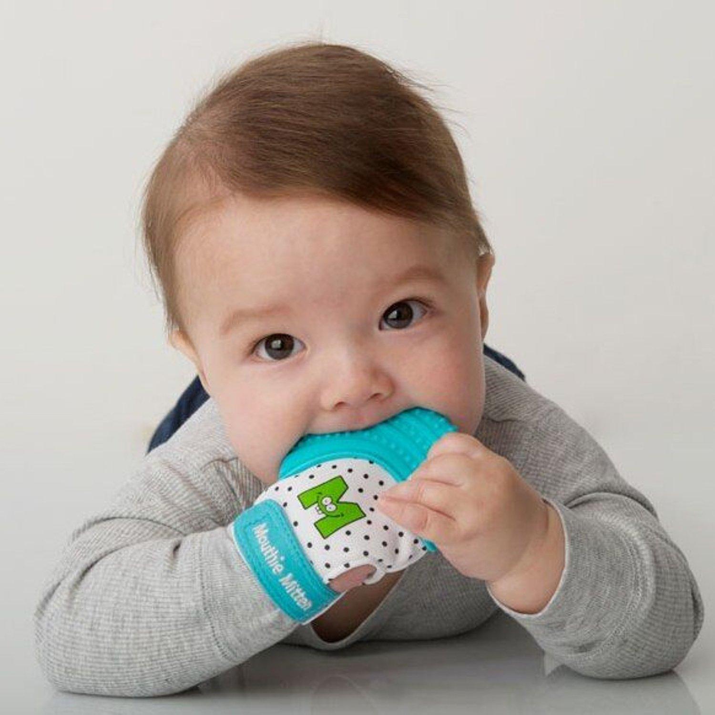 Sevira Kids mitón MITÓN de para dentición silicona Azul Recién nacido meses