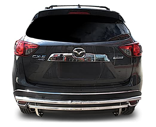 broadfeet parachoques trasero protector para 2015 A 2017 Mazda CX5 - doble capa de acero inoxidable: Amazon.es: Coche y moto