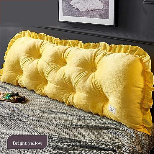 Cabecero de cama, cojín de algodón para cama, cojín de doble ...