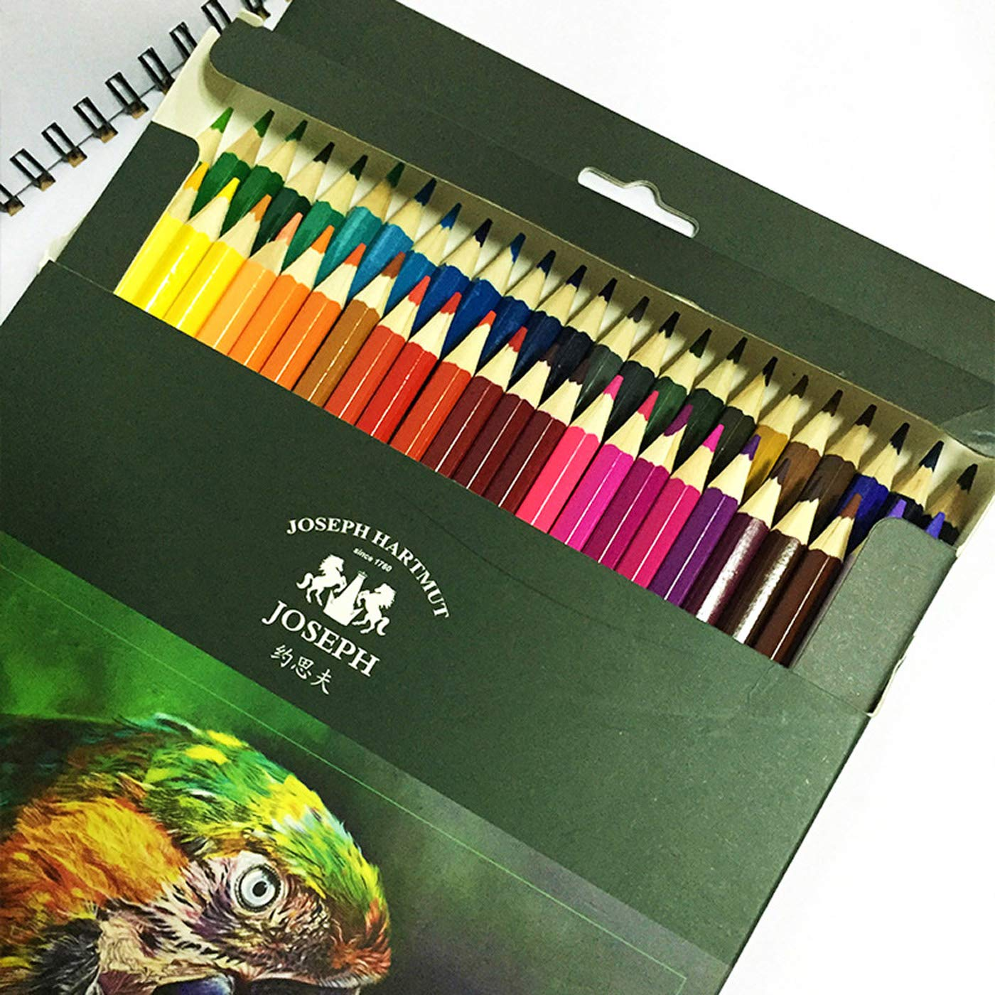 JS Colored Pencils, 48 Colors Set,Soft Core, Oil Based Leads, Nontoxic,Art Coloring Drawing Pencils for Adult Coloring Book, Sketch (Pack of 48)