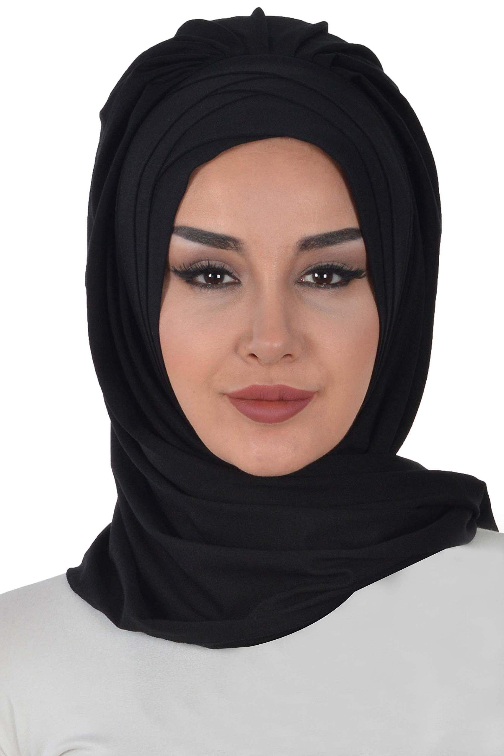 Jersey Shawl for Women Cotton Head Wrap Instant Modesty Turban Cap Scarf