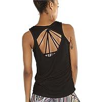 54116f09c41a icyzone Damen Yoga Sport Tank Top - Rückenfrei Fitness Shirt Oberteil  ärmellos Training Tops
