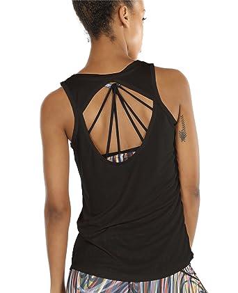 b1013984d6f0 icyzone Damen Yoga Sport Tank Top - Rückenfrei Fitness Shirt Oberteil  ärmellos Training Tops  Amazon.de  Bekleidung