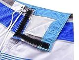 Unitop Men's Board Shorts Striped Plaid Swimwear