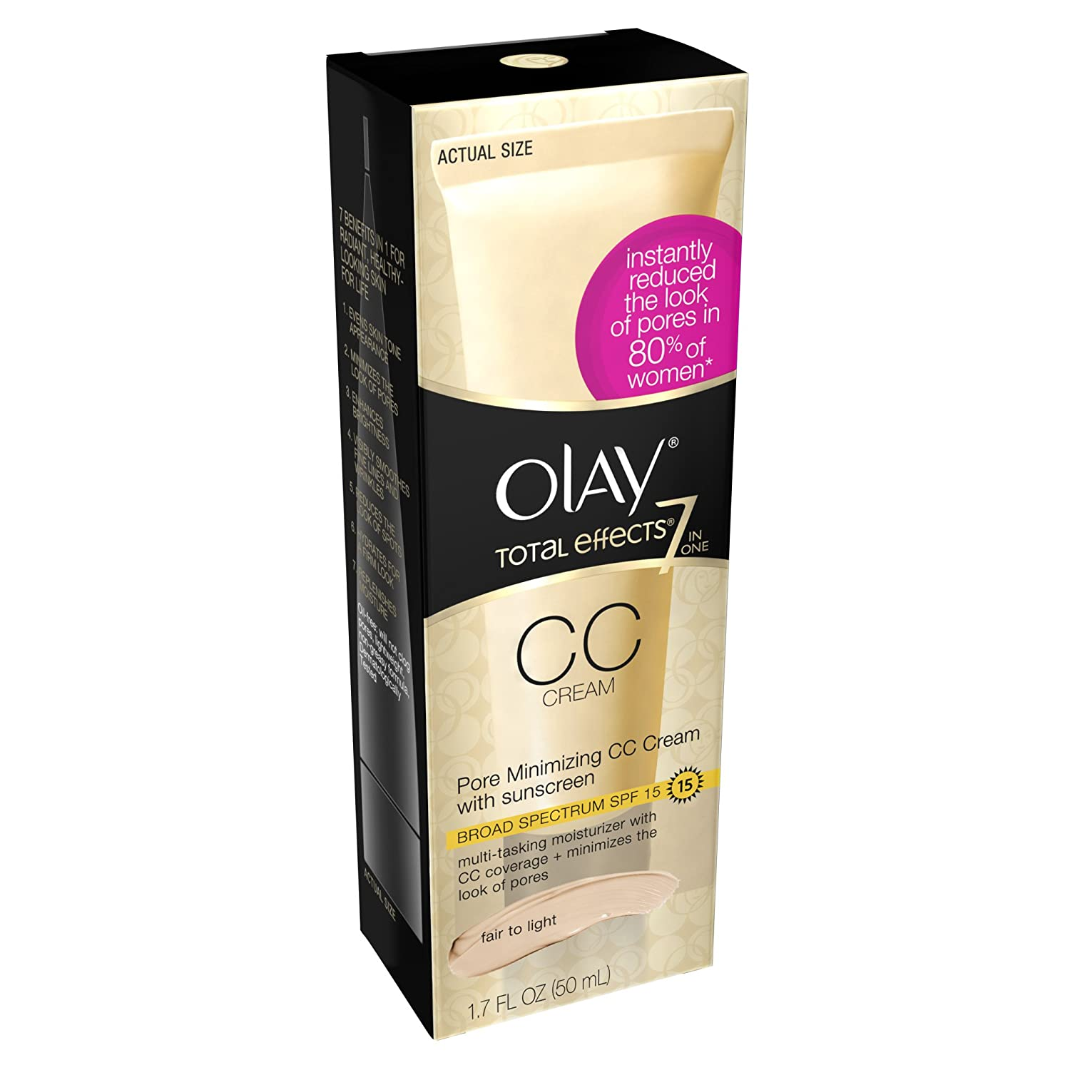 Olay Total Effects Pore Minimizing Cc Cream Fair To Light, 1.7 Fl Oz NA