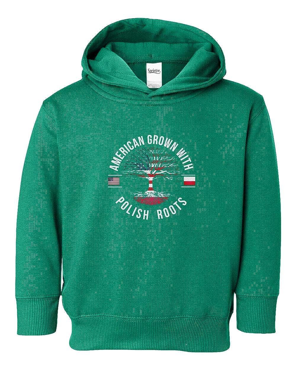 Societee American Grown with Polish Roots Youth /& Toddler Hoodie Sweatshirt