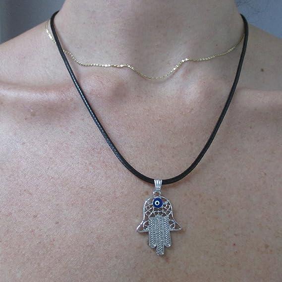Hamsa opal Hand of God charm pendant Jewish Kabbakah Evil Eye protection beads