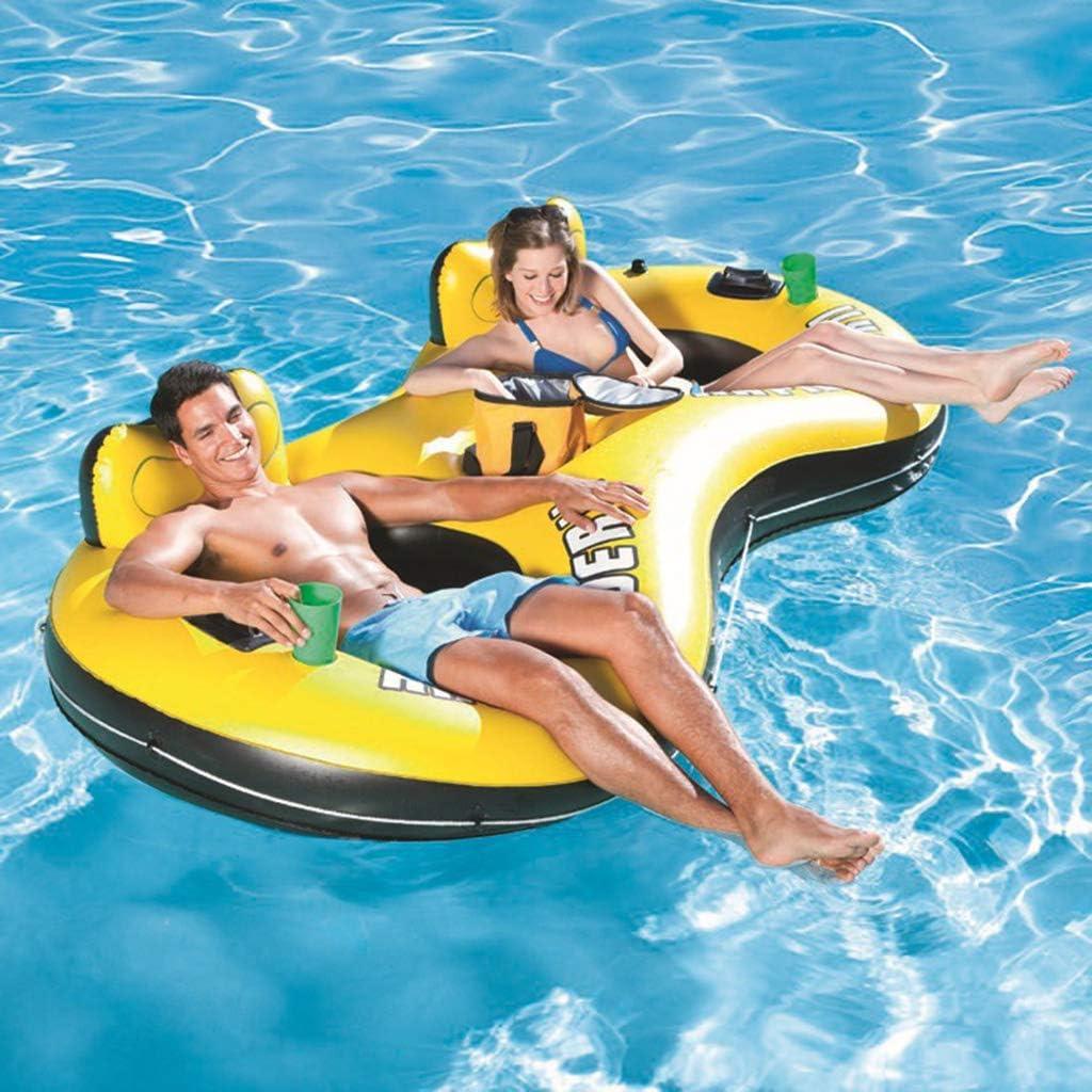 膨脹可能な二重水差し、夏の日膨脹可能な水差しの水泳の空気ベッド(251X132CM)