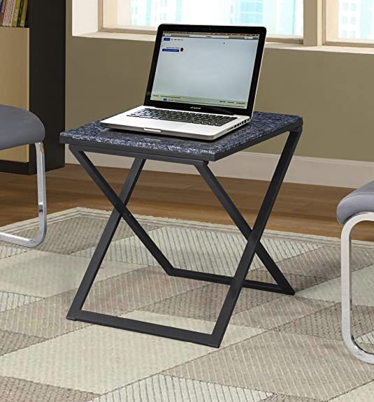 Olee Sleep 22-inch X-Design Blue Pearl Granite Top Steel Frame Coffee Table/ Tea Table / End Table/ Side Table/ Office Table/ Computer Table / Vanity Table/ Dining Table
