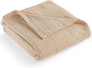 """Ralph Lauren New Lauren Classic Cotton King Bed Blanket 108"""" x 90"""" (Taupe)"""