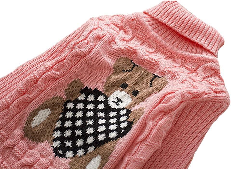 IEUUMLER Maglione Lavorato a Maglia Maglione Autunno//Inverno Bambini Manica Lunga con Collo Alto Maglione Caldo Vestiti Felpa Outwear per IE001