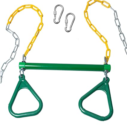 Amazon Com Trapeze Bar With Rings For Swing Set Outdoor