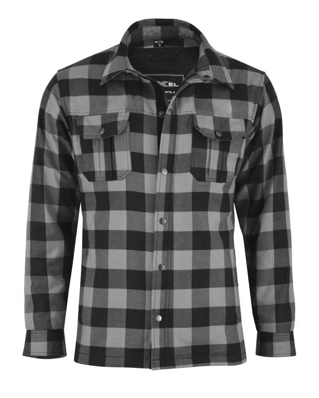 Red /& Black, L Vaster CE Armoured Motorbike Motorcycle Shirt Check Lumberjack Reinforced All Sizes