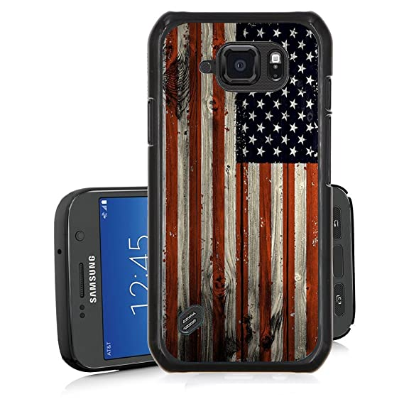 huge selection of 94fb5 55773 Galaxy S6 Active Case,FTFCASE TPU Back Cover Case for Samsung Galaxy S6  Active - Wooden Banner