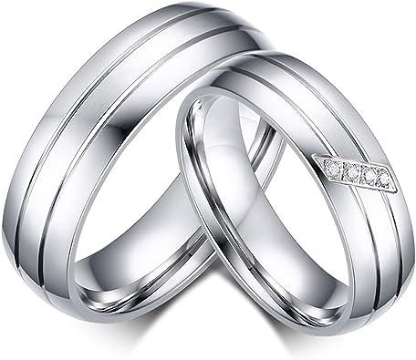 Blisfille Partnerring Damen Ring Zirkonia Silber Herren