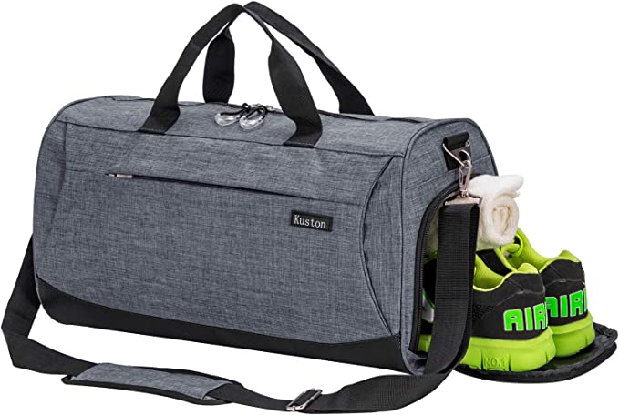 Kuston Sports Small Gym Bag for Men and Women Travel Duffel Bag Workout Bag with Shoes Compartment&Wet Pocket