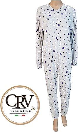 Pijama tutón sanitario para ancianos hombre mujer otoño invierno ...