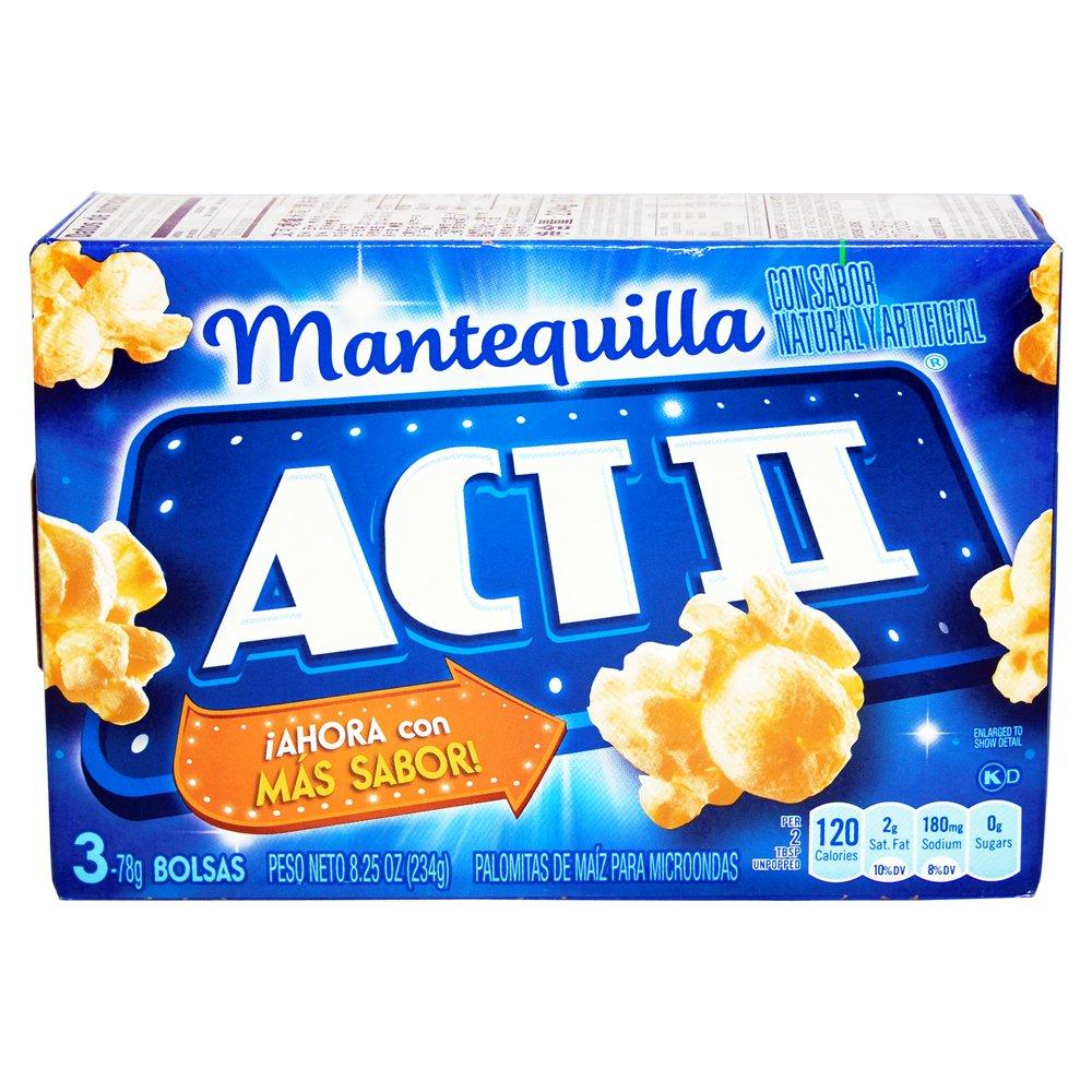 Amazon.com: *Act II Butter Natural Flavor Popcorn 3 pk 8.25 oz
