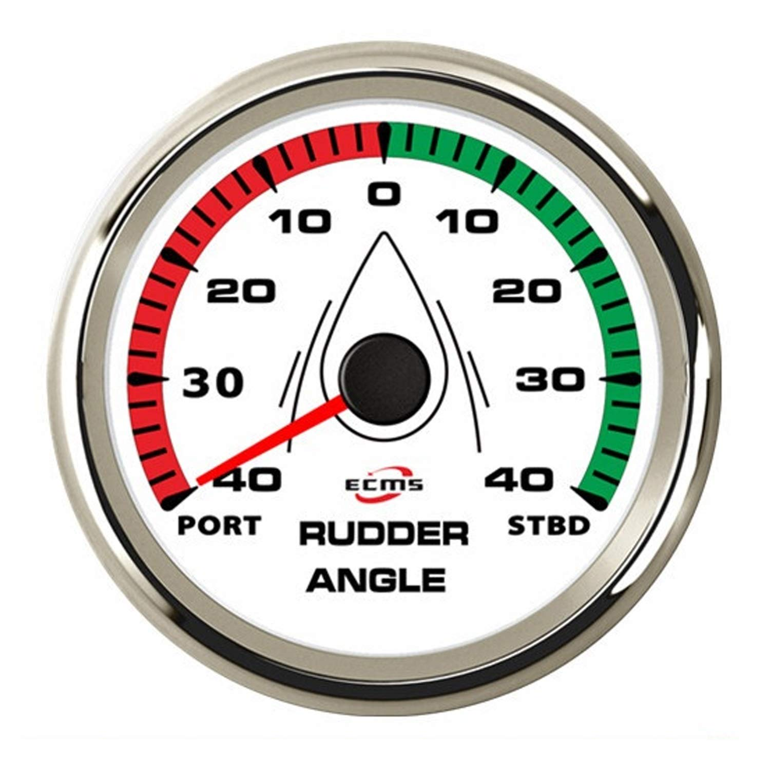 JUNJIAGAO-gauge Low Power Consumption 85mm Marine Rudder Angle Indicator 0-190ohm Rudder Angle Sensor, Waterproof, Lightning-Proof by JUNJIAGAO-gauge