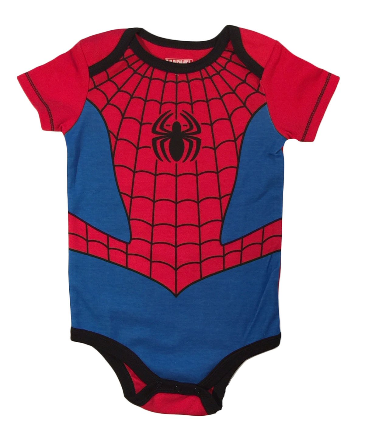 Marvel Spiderman Baby Boys Bodysuit Creeper Dress Up Outfit (6-9 Months)
