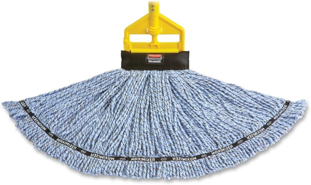 Rubbermaid Commercial Products RCP1924812 Large Maximizer Microfiber Mop head44; Blue44; Large44; 6 Per Each