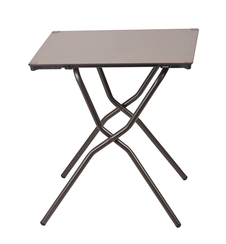 ラフマ(Lafuma) テーブル エニータイムスクエアテーブル(ANYTIME SQUARE TABLE) 天板色 B016MXVY3K  天板色:トープ/脚部パイプ色:マロンブラウン